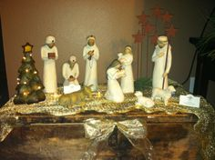 Willow Tree Nativity on display
