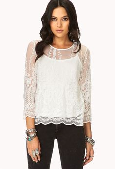 Whimsical Embroidered Top | FOREVER21 Boho fabulous #ForeverHoliday #WishPinWin