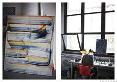 Julia Dault - www.wheretheycreate.com #JuliaDault #Brooklyn #NYC #artist #studiospace #paint