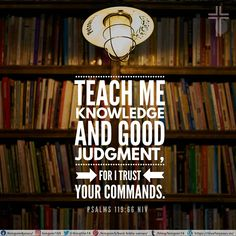 Teach me knowledge and good judgment, for I trust your commands. Psalms 119:66 NIV Trust Me, Trust Yourself, Best Bible Verses, Spiritual Needs, I Trusted You, Psalms, Spirituality, Knowledge, Teaching