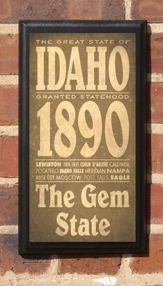 The State of Idaho. I want this!!!