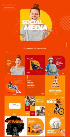 Projeto desenvolvido para a Disal Corretora de Seguros, a ideia é criar um Key Visual para suas redes sociais de forma minimalista e descontraida, com cores vivas e contrastantes. Social Media Poster, Social Media Branding, Social Media Banner, Social Media Template, Social Media Content, Social Media Graphics, Poster Design, Graphic Design Posters, Poster Layout