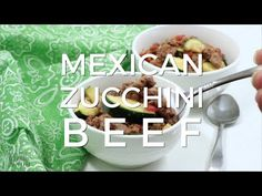 This low carb Mexican zucchini and ground beef recipe is a simple dish made with low cost ingredients. It's an easy LCHF dinner recipe perfect for summer. Meat Recipes, Mexican Food Recipes, Low Carb Recipes, Cooking Recipes, Healthy Recipes, Dinner Recipes, Beef Skillet Recipe, Mexican Zucchini, Lean And Green Meals