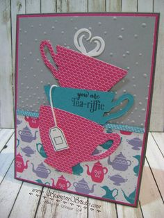 Stampin' Sisters Retreat, Stampin' Studio, Stampin' Up!  A Nice Cuppa, Cups and Kettles Framelits, Have a Cuppa DSP, Have a Cuppa Embellishments