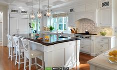 different countertop on island