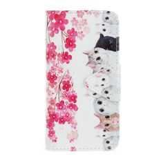 Flowers Floral Cute Cats Stand PU Leather Funda Cover for Huawei P9 Lite Flip Case Cellphone Accessories