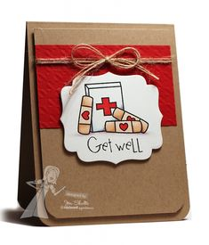 Get Well Card by Jen Shults #Cardmaking, #GetWell