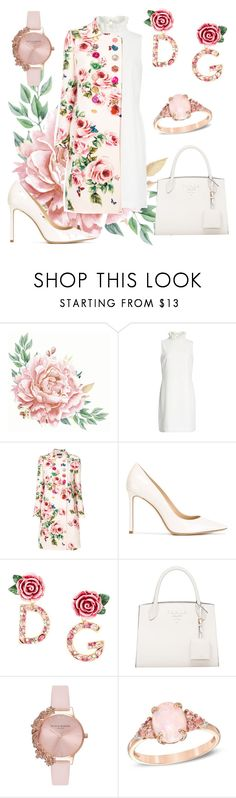 """flower🌸"" by cecilvenekamp ❤ liked on Polyvore featuring Ted Baker, Dolce&Gabbana, Jimmy Choo and Olivia Burton"
