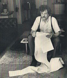 "Kurt Vonnegut, Jr. (November 11, 1922 – April 11, 2007) was a 20th-century American writer.  ""Where do I get my ideas from? You might as well have asked that of Beethoven. He was goofing around in Germany like everybody else, and all of a sudden this stuff came gushing out of him. It was music. I was goofing around like everybody else in Indiana, and all of a sudden stuff came gushing out. It was disgust with civilization."""
