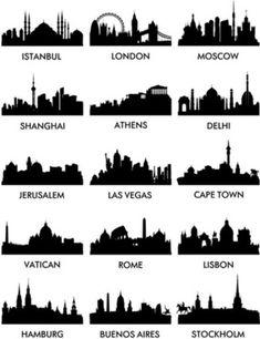 Free City Skyline Silhouette Vector