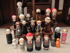 My hubby and daughter would to have this collection of Harry Potter characters, and add Hogwarts. They would be all over it.