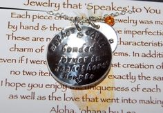 Mother and Child Quote Necklace by ohanabylea on Etsy, $46.00