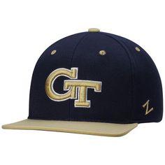 Georgia Tech Yellow Jackets Zephyr Z11 Snapback Adjustable Hat - Navy
