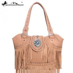 Montana West Trinity Ranch Collection Genuine Leather Fringe Handbag fd7c3ea3436