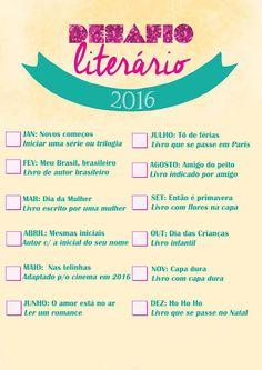 UNIVERSO DOS LEITORES: Desafio literário 2016