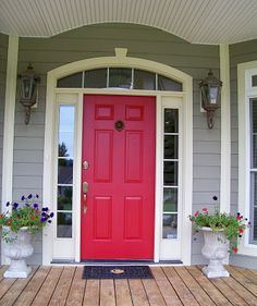 Furniture, The Red Door Picture Good Shaped Nice White Color Grey Color  Wall Picture Good Small Shaped Rectangle Shaped Good Some Flowers On The  Yard: Make ...