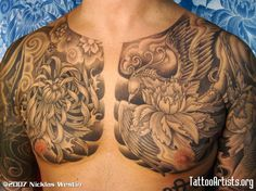 chest tattoos | fran chest - Tattoo Artists.org