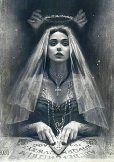 Digital artist Tom Bagshaw gives life to hypnotizing portraits and pays a tribute to fierce women, balancing between occult and grace. Arte Horror, Horror Art, Dark Fantasy, Fantasy Art, Eugenia Loli, Illustration Art, Illustrations, Goth Art, Dark Beauty