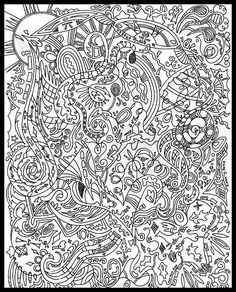 advanced coloring pages on Pinterest | Adult Coloring ...
