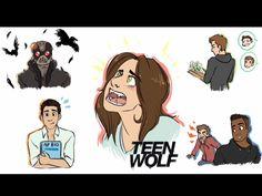 Has anyone seen season 5 yet? Sterek, Teen Wolf Art, Wolf Stuff, Cartoon Art Styles, Werewolf, Fangirl, Disney Characters, Fictional Characters, Seasons