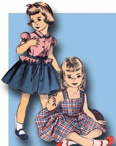 1950s Original Sweet Vintage Advance Tot's Sun Dress Jacket Pattern Sz 4   eBay