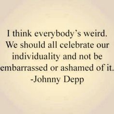 Johnny Depp on uniqueness