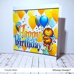 Claudia's Karteria: Ein kleiner Geburtstagstiger | A little birthday t... Happy Birthday, I Card, Blog, Cute, Decor, Digi Stamps, Boxes, Stamping Up, Bricolage