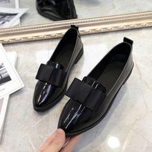 AD AcolorDay Clásicos Zapatos de Marca Mujeres Casual Dedo Del Pie  Acentuado Negro Zapatos Oxford para 85c289a5837
