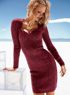 sexy sweater dress.