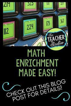 Mind Boggling Math: Infusing the Standards for Mathematical Practice - The Teacher Studio Standards For Mathematical Practice, Mathematical Practices, Math Practices, Writing Resources, Teacher Resources, Math Enrichment, Math Challenge, Fifth Grade Math, Math Workshop
