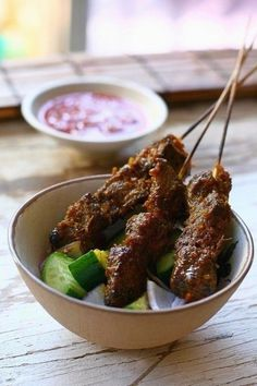 Beef Satay with Spicy Peanut Sauce | Recipe