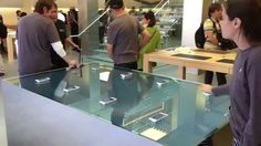 Apple Store Force Touch Table, Water ripples and fish move as you touch the phone.. So cool!!! ;P