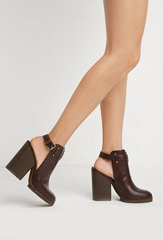Cutout Faux Leather Booties | Forever 21 | #stepitup