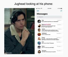 Jughead's phone- Archie's text is hilarious hahaha