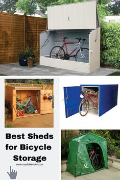 Best Outdoor Bicycle Storage Sheds - Road Bike Rider Cycling Site Outdoor Bicycle Storage, Bicycle Storage Shed, Bike Shed, Shed Storage, Bicycle Rack, Bike Storage Small Space, Trike Bicycle, Bicycle Maintenance, Cool Bike Accessories