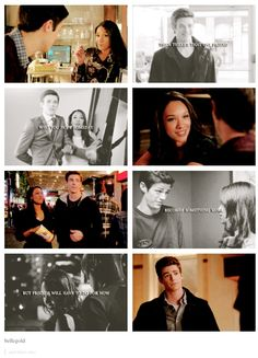 Barry and Iris from CW's The Flash. More cuteness? More cuteness. |TV Shows||Barry Allen||Iris West|