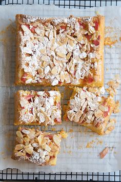 Sugary & Buttery - Rhubarb Almond Summer Cake (Gluten-free)
