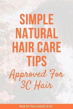 Simple Natural Hair Care Tips for Hair Natural Hair Types, Natural Hair Care Tips, Long Natural Hair, Natural Hair Journey, Natural Brows, Natural Curls, Hair Hacks, Hair Tips, Hair Ideas