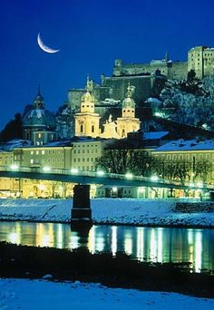 Salzburg - Most Beautiful City in Europe - The City of Mozart Salzburg, Austria - My favorite place in the whole world! My late hubby took me to see The Sound of Music on our date & I fell in love with him & Salzburg at the same time! Places Around The World, Travel Around The World, Oh The Places You'll Go, Places To Travel, Places To Visit, Around The Worlds, Wonderful Places, Great Places, Beautiful Places