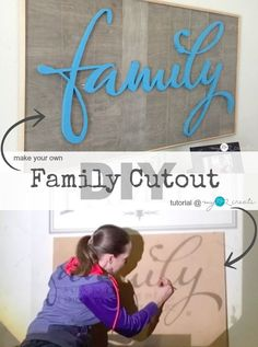Great tutorial on how to make your own cutout words at MyLove2Create