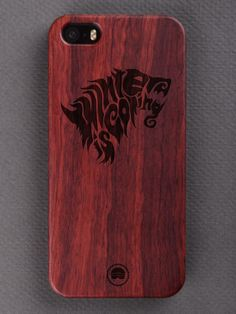 Buy Winter Is Coming Typography Engraved Wooden Smartphone Case Online for Bombay Trooper, Wooden Phone Case, Winter Is Coming, Laser Engraving, Smartphone, Iphone Cases, Typography, Letterpress, Letterpress Printing