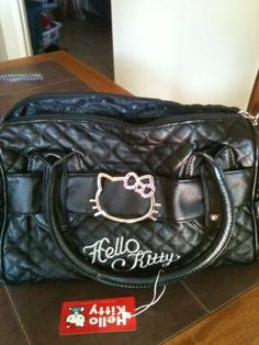 9d912b86cd BLACK HELLO KITTY PURSE  SHOULDER BAG
