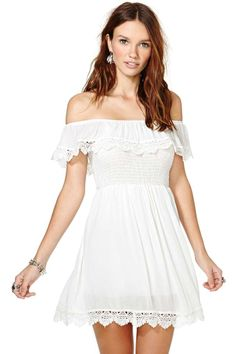 I like the idea of the style of dress for the wedding...(not white)  And a bit more length.  Que Sera Dress | Shop Dresses at Nasty Gal