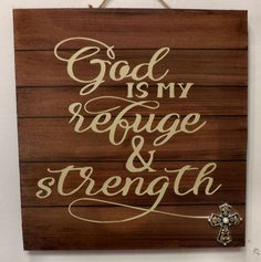 Wooden Christian wall hanging