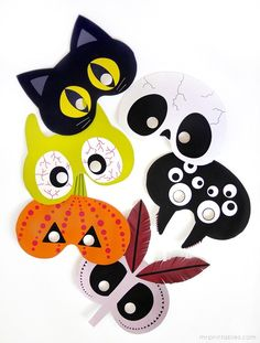 dit-masques-Halloween- free-printable