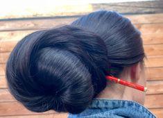 Donut Bun Hairstyles, Long Hair Models, Long Hair Play, Big Bun, Playing With Hair, Hair Brush, Big Hair, Bobby Pins, Hair Accessories