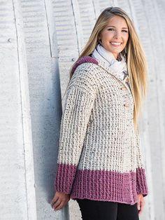 Crochet a hooded cardigan sweater pattern, winter sweater crochet patterns…