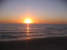 I love the sun setting over the Pacific coast.