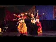 Fat Chance Belly Dance.  Example of American Tribal Style (ATS). Each move is associated with a certain  body signal so that individuals can dance in unison.  So cool!