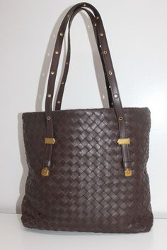 Bottega Veneta Belted Tote Intrecciato Brown Leather Medium Bottega Veneta 2412bcc18ff42